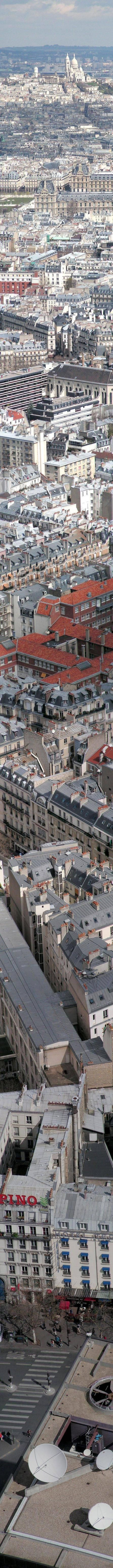 Parisian Rooftops Panorama, actually more than what most of us can handle!