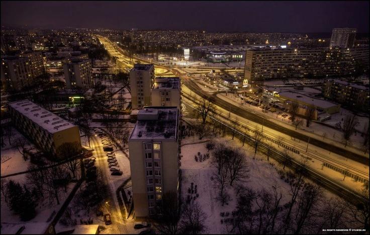 Gdańsk-Przymorze nocą / Przymorze district in Gdansk by night