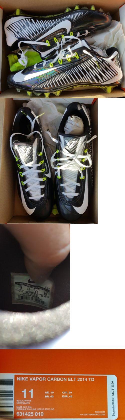 Men 159116: Nike Vapor Carbon Elite 2014 Td Football Cleats Size 11 Black White $150 Nib -> BUY IT NOW ONLY: $47.99 on eBay!