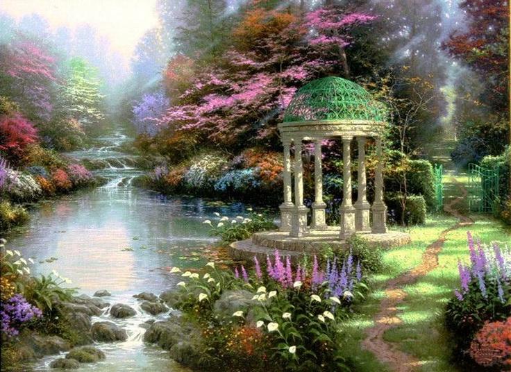17 Best Images About Thomas Kinkade On Pinterest Gardens