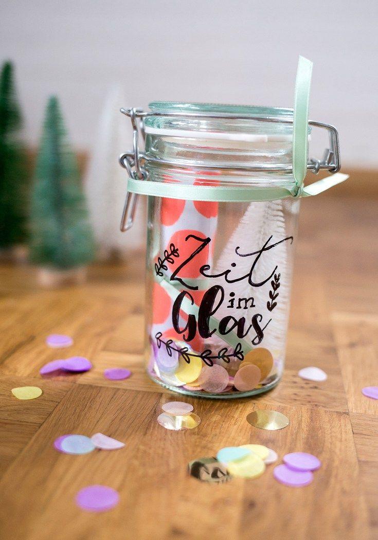 Zeit im Glas ein Last-Minute-DIY