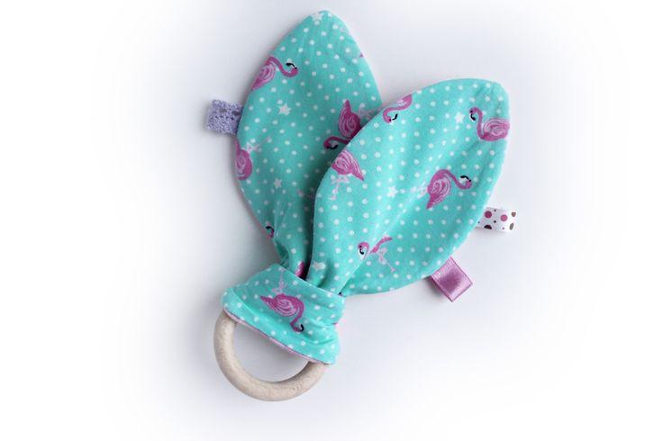 Girls teething ring, baby teether, baby teether, newborn toys, baby gift girls, baby teething rings, wooden teether, wooden baby toy by TildaArt on Etsy
