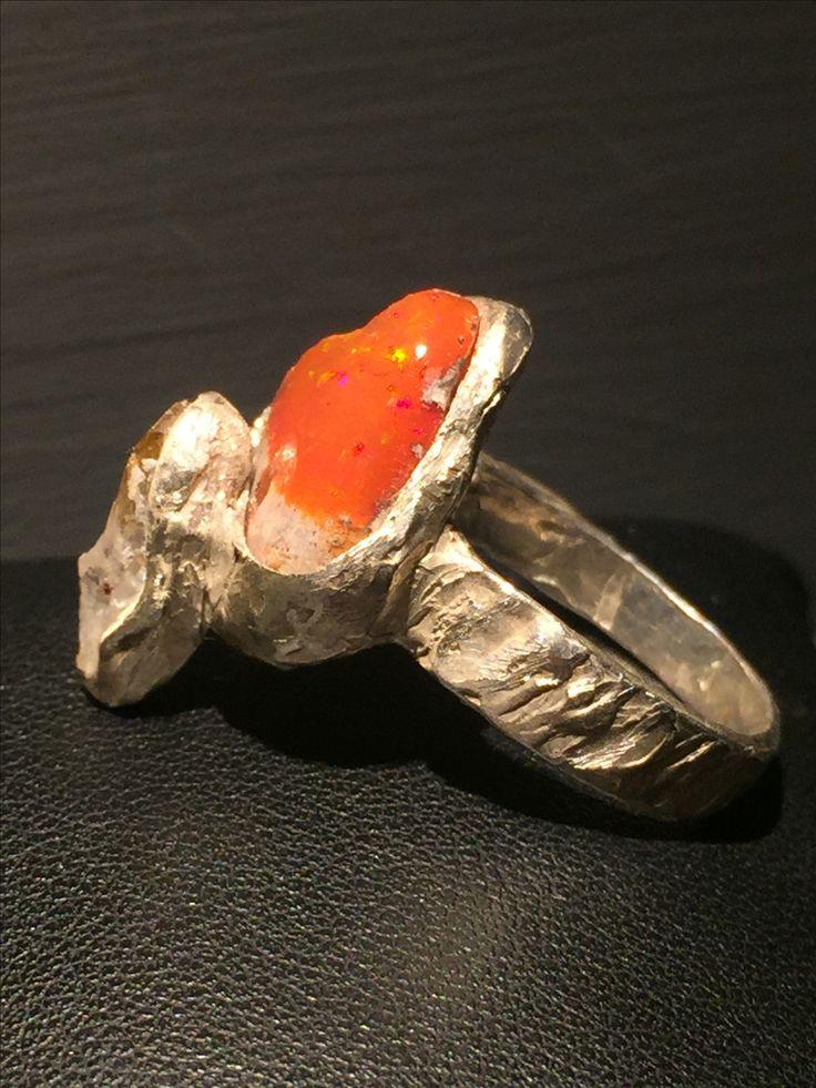 Opale di Fuoco argento e quarzo