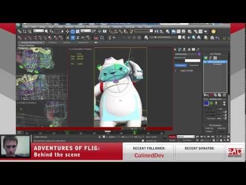 #12. Flig vs Candyeti: Animations in 3ds max #twitch #indie #indiedev #gamedev #aoflig #fligadventures #adventuresofflig #flig