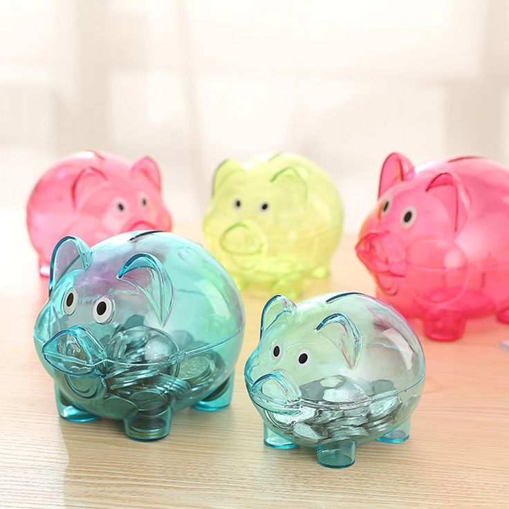 2.08$  Watch more here - Cute Design Transparent Plastic Piggy Bank Money Saving Box Case Coins Cartoon Pig Shaped   #magazine