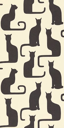 Sanderson Bloomsbury Wallpaper-Omega cats DOIL 211065