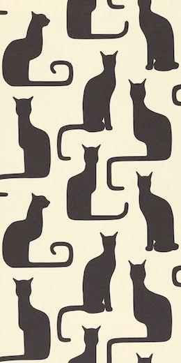 Black cats wallpaper, http://www.sanderson-uk.com/DesignDetails.aspx