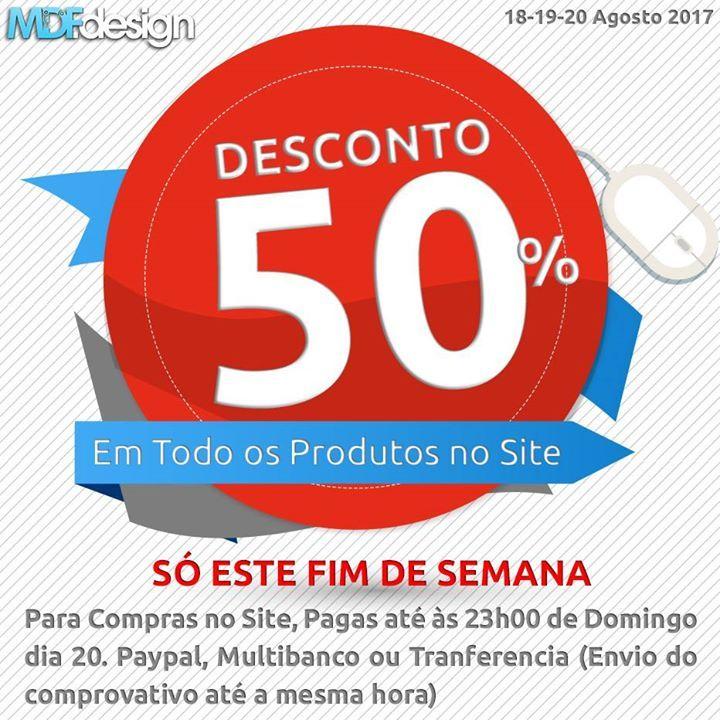 50% Desconto em TODOS os produtos do nosso site só este fim de semana compras apenas pelo site Para Compras no Site Pagas até às 23h00 de Domingo dia 20. Paypal Multibanco ou Tranferencia (Envio do comprovativo até a mesma hora) - http://ift.tt/29XdScI