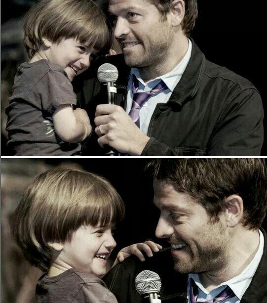Misha and his son | Misha collins, Destiel, Winchester boys
