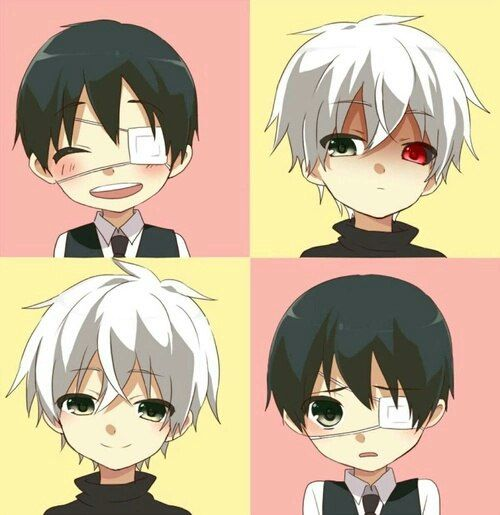 Cute kaneki chibis