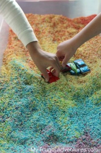 How to Make Colored Rice - so easy and so fun for the kids! Pin now to save for summer vacation!