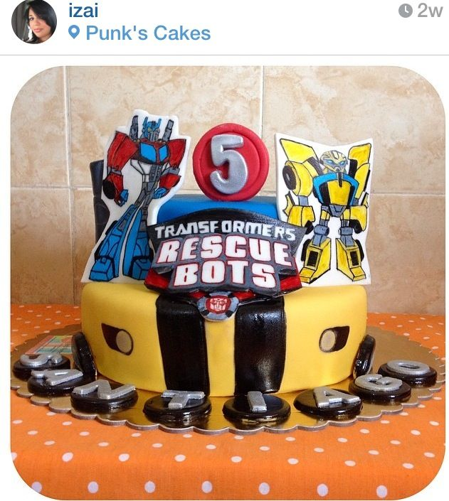 Rescuebots birthday cake by Punks Cakes