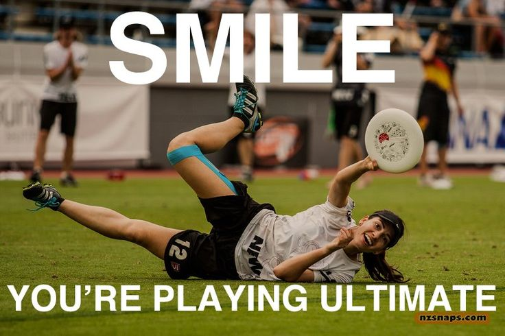 Smile! You're playing Ultimate Frisbee