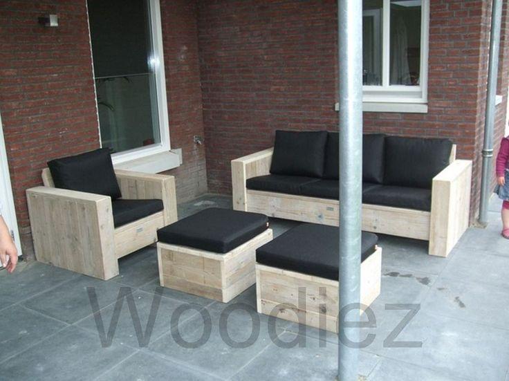 Steigerhouten loungeset
