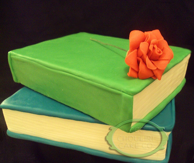 Cake Decorated Like Books : Stacked Books Cake. I would really love to do a cake like ...