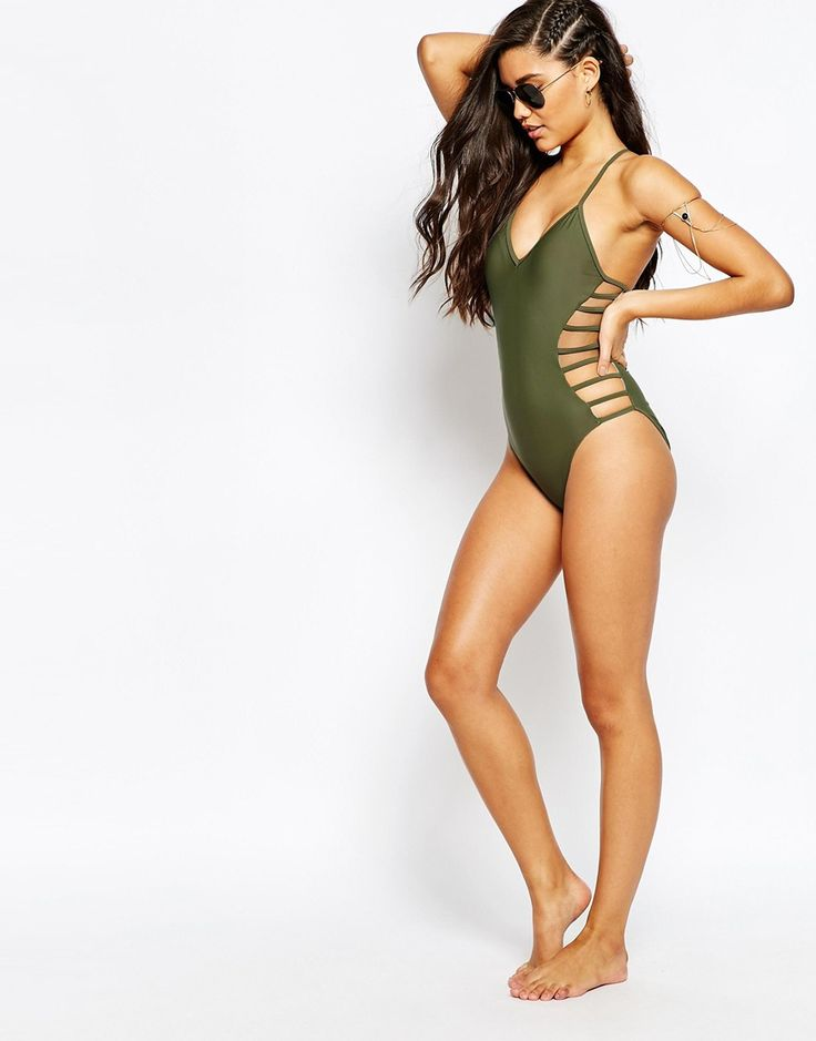 Image 4 of Missguided Strappy Side Swimsuit