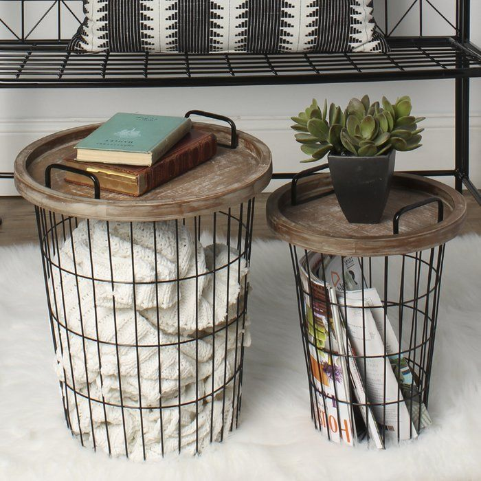 Refresh your home decor with these practical modern nesting accent tables. These decorative utilitarian end tables are designed to fit perfectly in your living room, bedroom, or home office for a functional alternative to the classic end table. These can be used as accent tables and decorative storage baskets in the living room, nightstands in the bedroom next to a low bed or even with liners for a covered waste baskets. These metal accent tables nest one inside the other and each have a…
