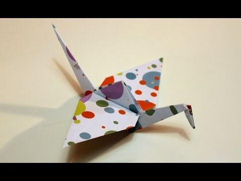 Come fare una gru origami   Tutorial Musinlove - YouTube