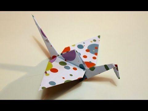 ▶ Come fare una gru origami Tutorial Musinlove - YouTube