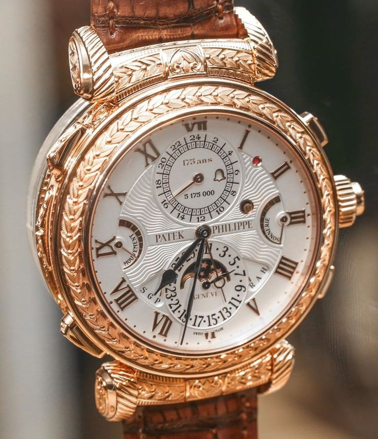 The $2.6 Million PATEK PHILIPPE Grandmaster Chime 5175 Watch, luxury made in Geneva - la $2.6 millón Patek Philippe Grandmaster Chime 5175 reloj, de lujo fabricado en el Geneva http://www.albertalagrup.com