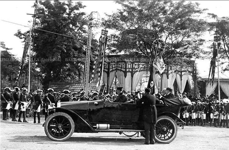 Llegada de Alfonso XIII a la Feria de Abril