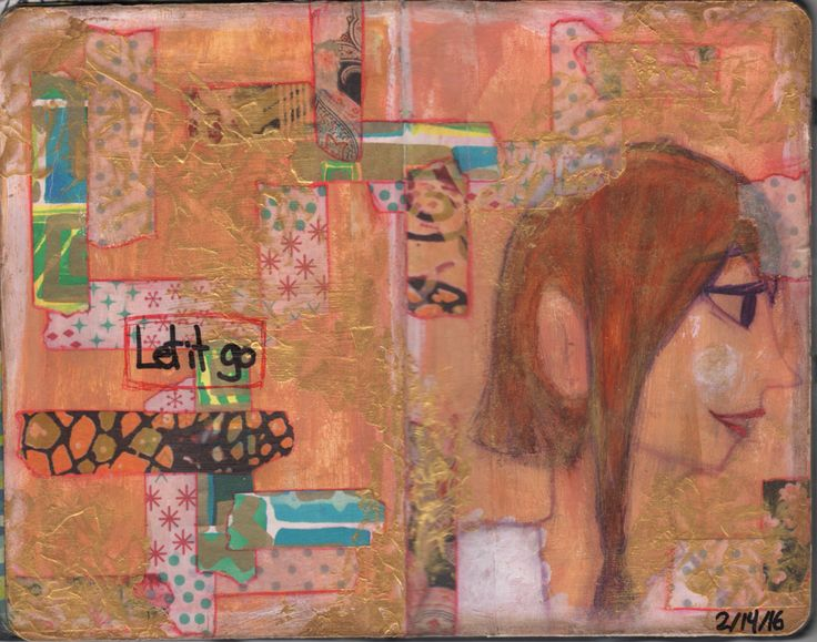 My 8th art journal page. Completed on Sunday February 14 2016.