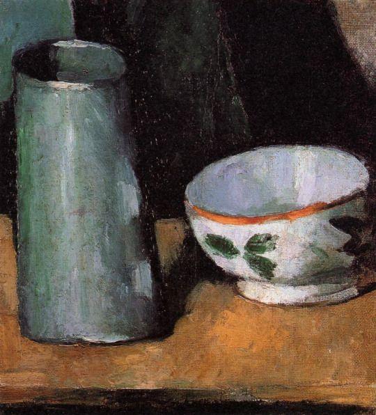 Still Life, Bowl and Milk Jug by Paul Cezanne