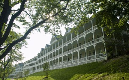 Omni Bedford Springs Historic Hotel.  National Historic Landmark located on 2200 Acres in the Scenic Cumberland Valley.  Eight Mineral Springs feed the heated indoor and outdoor pool - and the Spa treatments