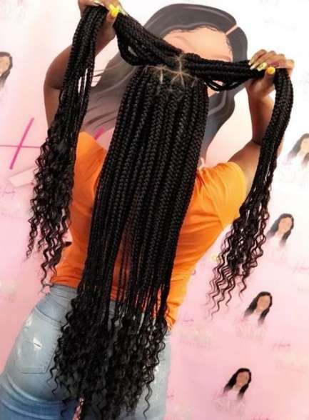 Tremendous braids with weave for black girls curls 54 Concepts