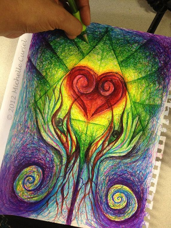 Drawing Open to interpretation Original ART by michellecuriel, $99.99