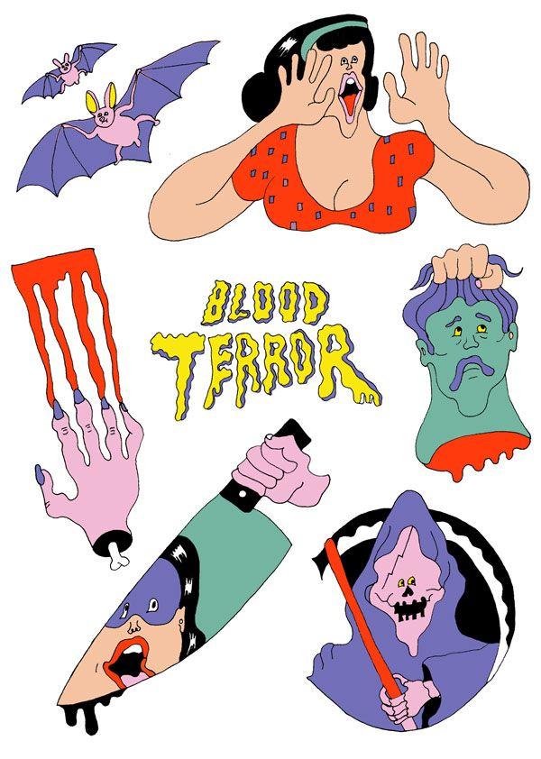 架空のホラー映画「BLOOD TERROR」