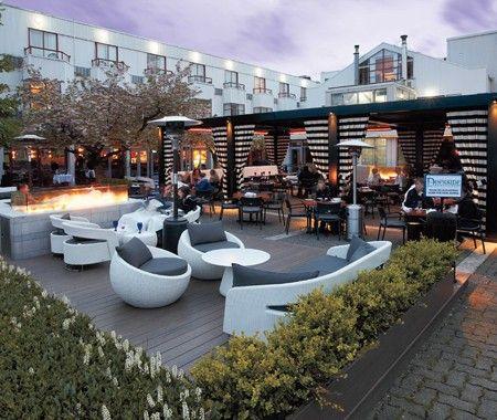 Elegant Outdoor Lounge | Photo Gallery: Inspiring Restaurant Patios | House & Home | Photo via Dockside Seafood Restaurant