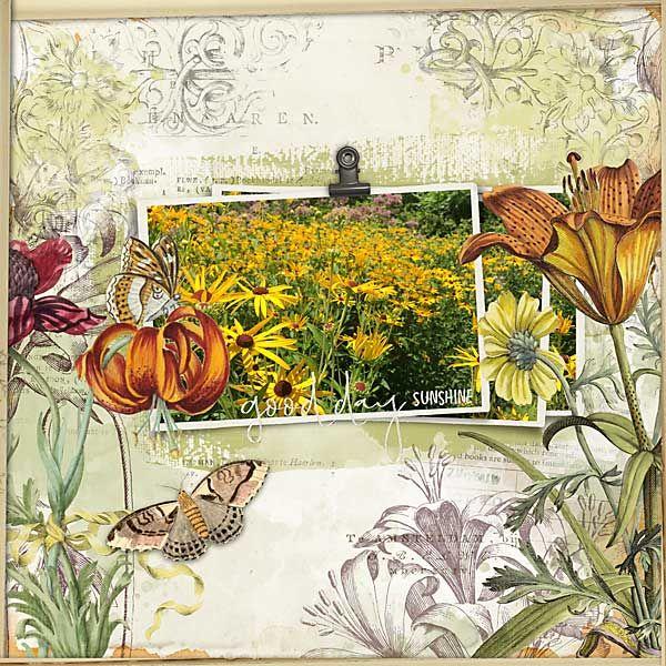 good day sunshine #blendablelayers78 #wildflowers #designerdigitals #digitalscrapbookpages