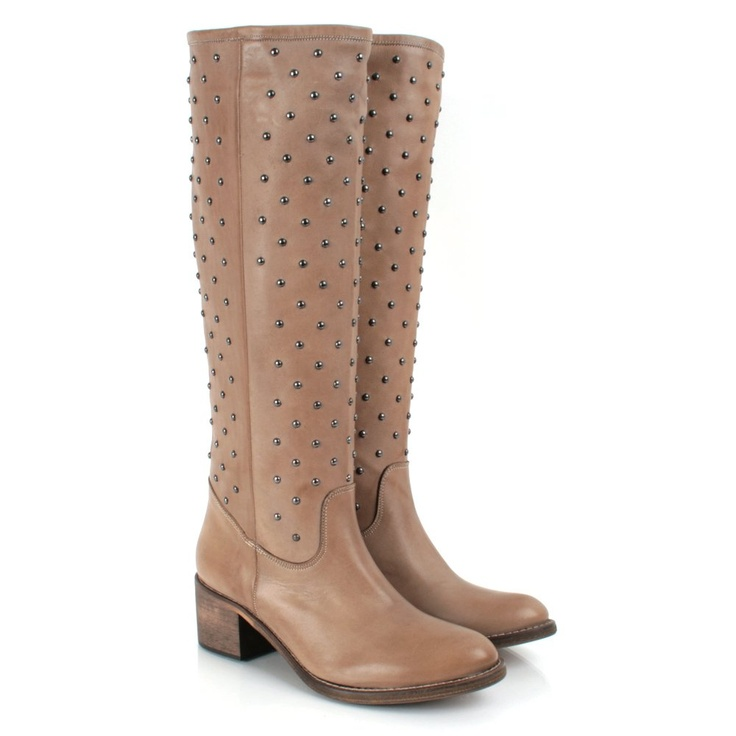 Daniel Taupe Nailed Women's Flat Knee Boot