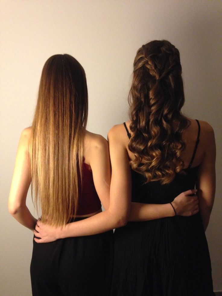 Two different yet beautiful hairstyles for long hair! Perfect for a night out or a dinner #straight #curled #hairstyles #longhair #brown #hair #fashion #love #blog #women