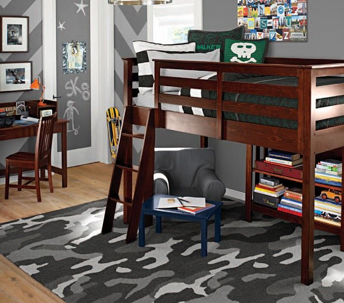 Decorator Single Shelf Loft Beds Pottery Barn Kids And Kid