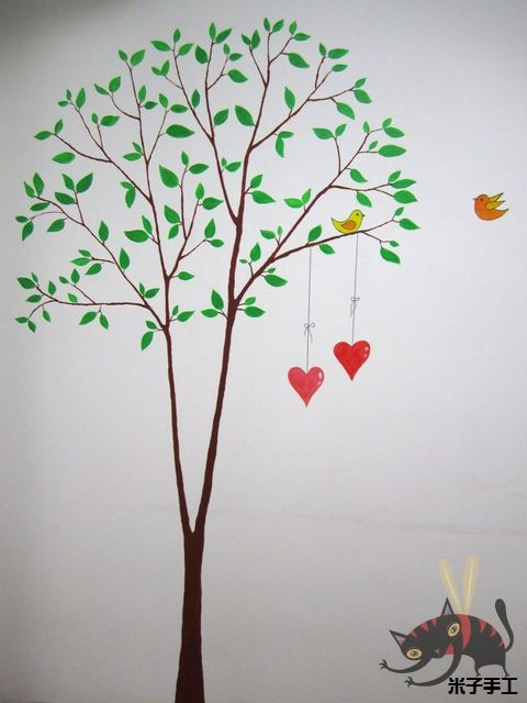 Pintura.: Pintura Arboles, Paint, Wall, Rooms