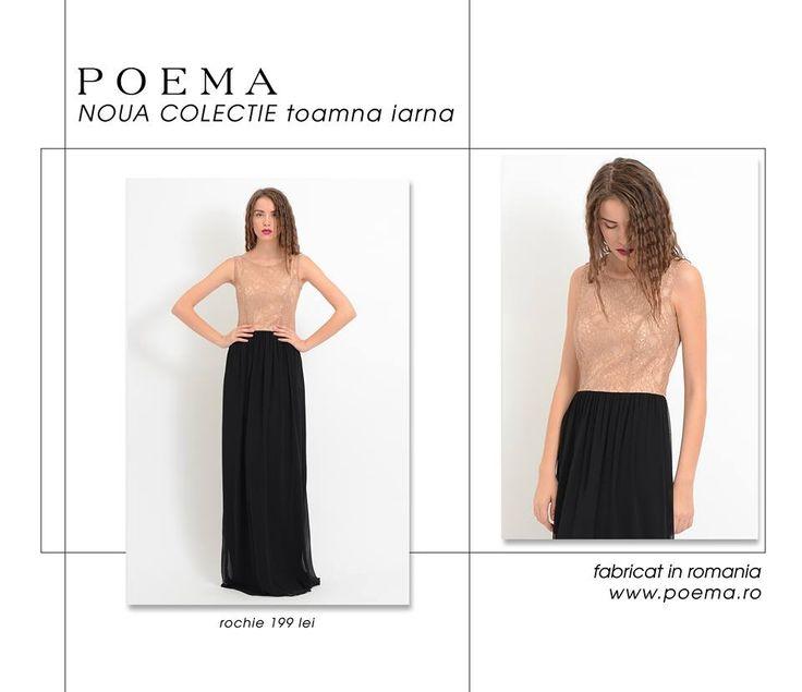 Rochie lunga de seara POEMA http://shop.poema.ro/poemashop