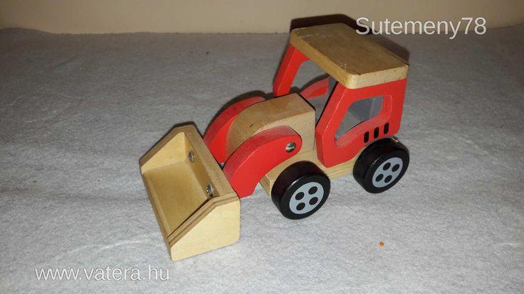 BS Játék - Fa munkagép - 1500 Ft - Nézd meg Te is Vaterán - Kisautó, jármű és kellékei - http://www.vatera.hu/item/view/?cod=2554690556