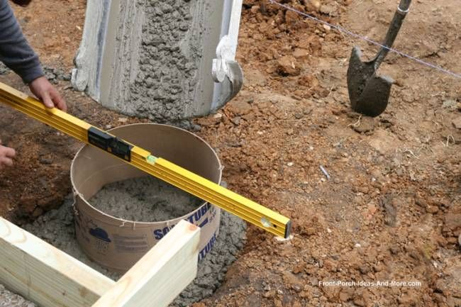 pouring concrete footings and piers