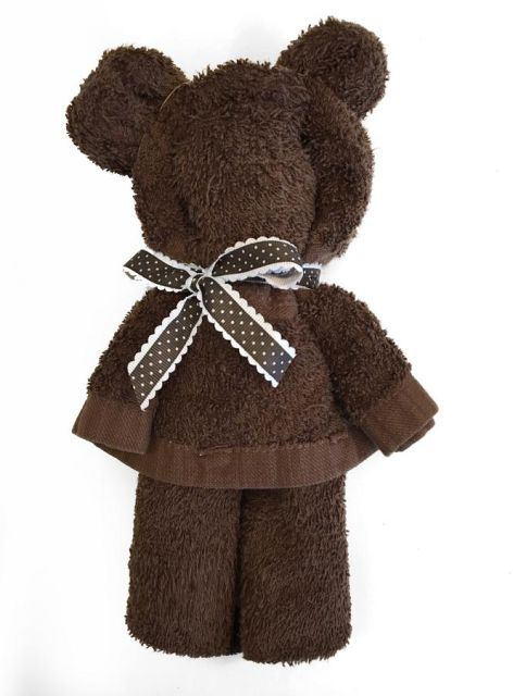 Bedårande björnar! Sötaste nallen gör du av en handduk