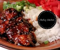 Sweet Sticky Chicken (FODMAP):  Zoet en spicy, met lekkere sesam en wat groen van de bosui voor de smaak