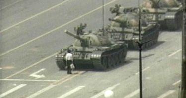"Tiananmen Square.   Beijing, China.  ""the tank man"""