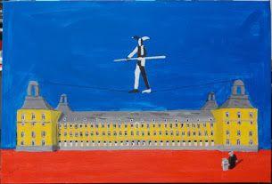 Der Seiltänzer / the tightrope dancer (Univertitaet Bonn) (Acryl,canvas, 55080cm)