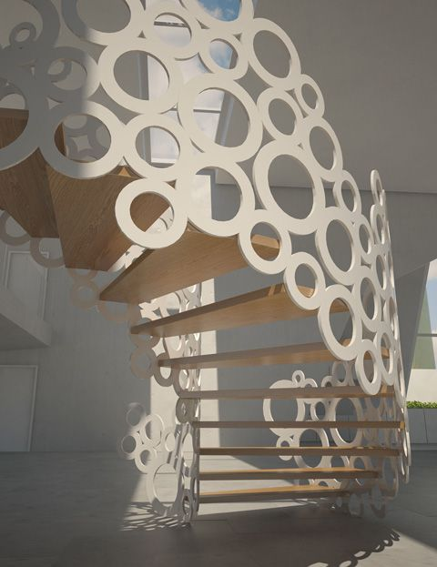 Organic Staircase by Eestairs  #dearthdesign #austin #texas #luxury #custom #home #builders #association www.dearthdesign.com