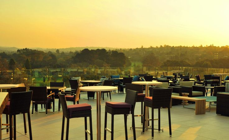 The Fairway Hotel - Sunset setting on the balcony of Johannesburg