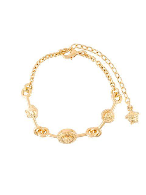 VERSACE Medusa medallion charm bracelet. #versace #bracelet