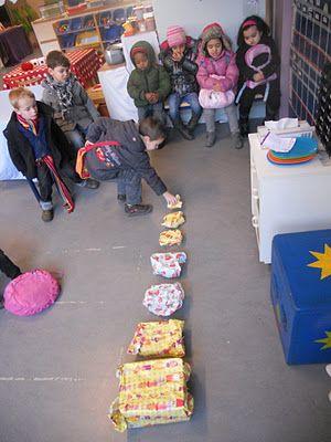 De cadeautjes werden gesorteerd volgens grootte...