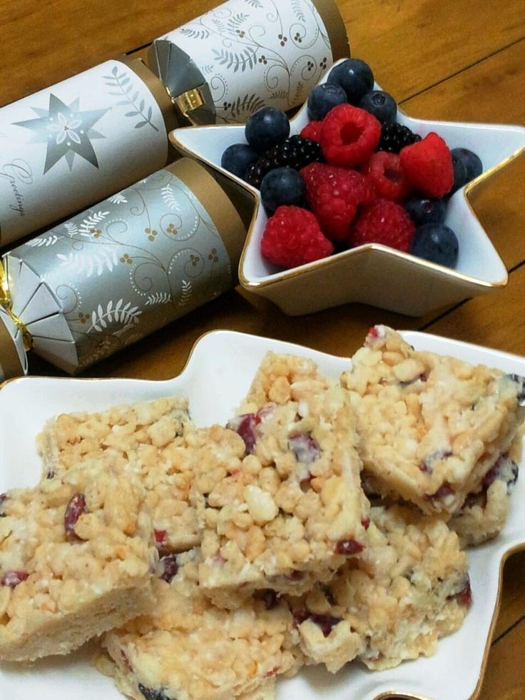 Chrismas treats. Fenella's Divine white christmas.