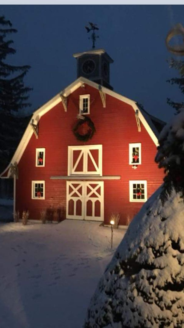 Beautiful red barn in my hometown of Chester, NH